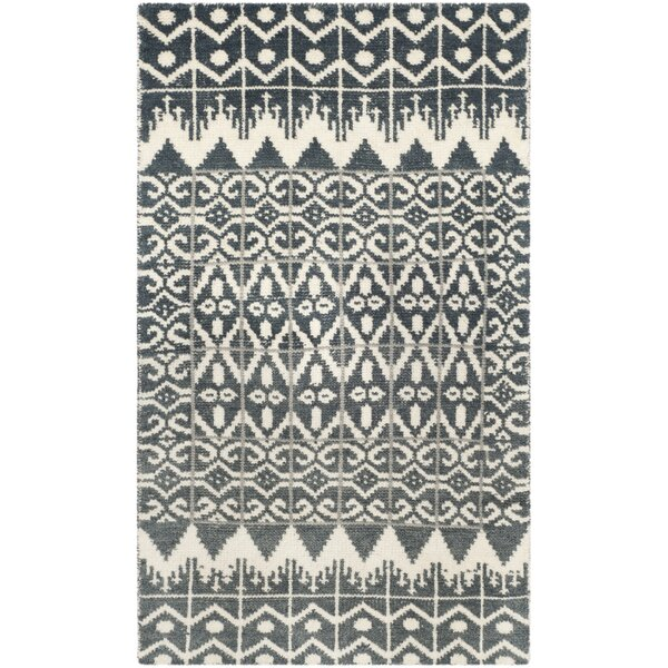 Xue Charcoal Contemporary Area Rug by Union Rustic