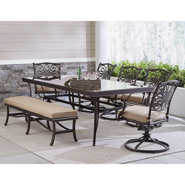 Lauritsen Outdoor 7 Piece Dining Set by Three Posts