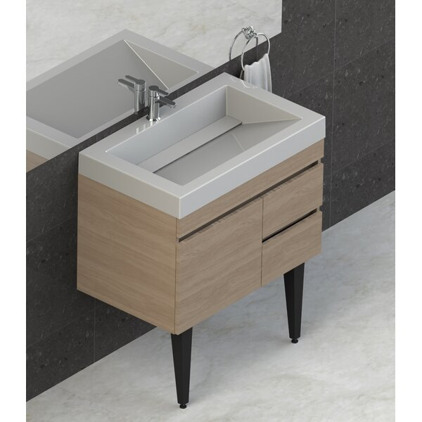 Byrns 31 Wall-Mounted Single Bathroom Vanity Set by Wrought Studio