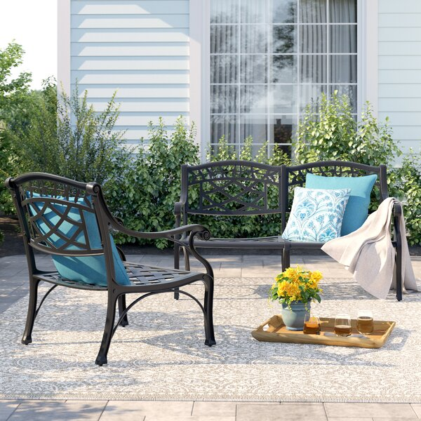 Carmen 2 Piece Sofa Seating Group by Sol 72 Outdoor