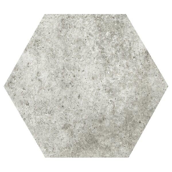 Newberry Hexagon 10 x 11 Porcelain Field Tile in Grigio by Emser Tile