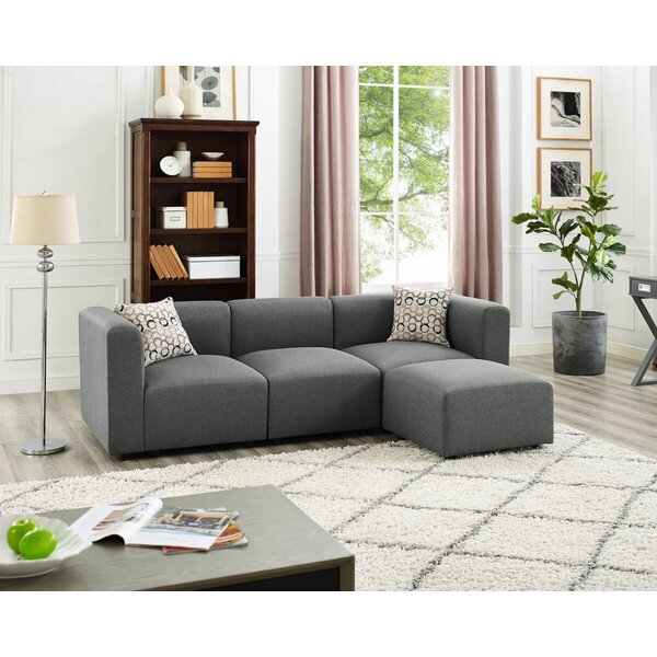 Jernigan Modular Sectional with Ottoman by Wrought Studio