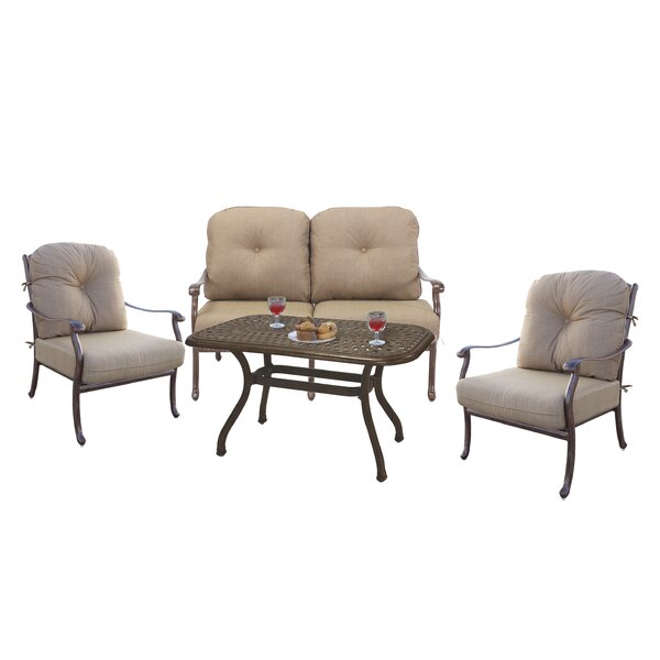 Thompson 4 Piece Sofa Set with Cushions by Alcott Hill