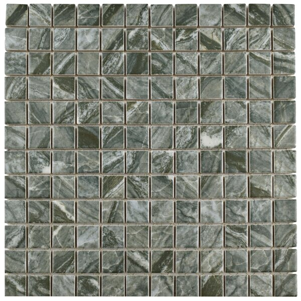 Amelia 0.88 x 0.88 Porcelain Mosaic Tile in Gray by EliteTile