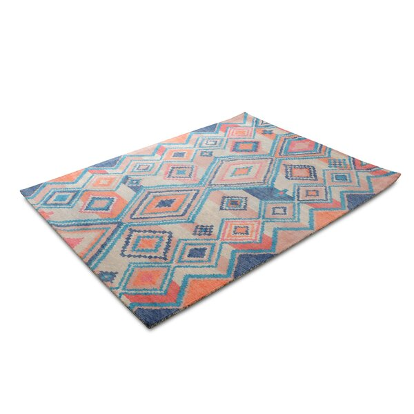 Nala Blue/Orange Area Rug by Millwood Pines