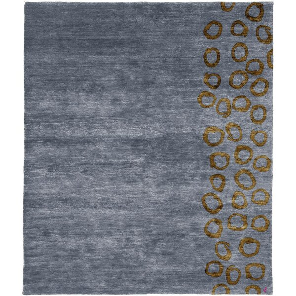 One-of-a-Kind Swindle Hand-Knotted Tibetan Gray 10' Square Wool Area Rug