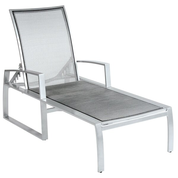 Wyatt Flex Sling Adjustable Chaise Lounge by Woodard