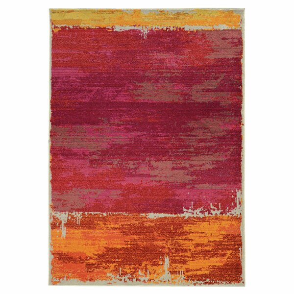 Expressions Abstract Red Area Rug by Pantone Universe
