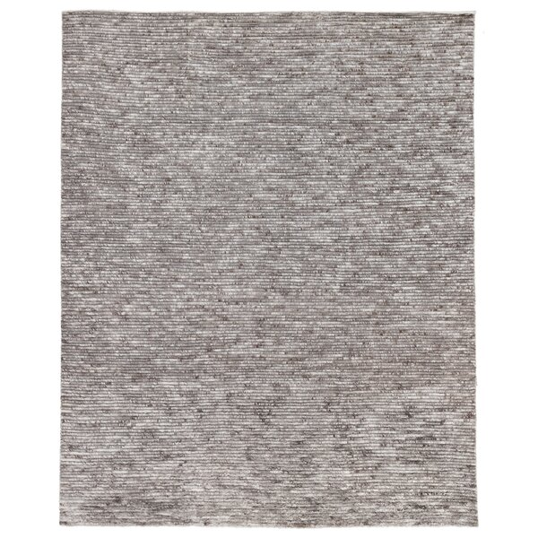 Bossa Hand Knotted Wool Gray Rug