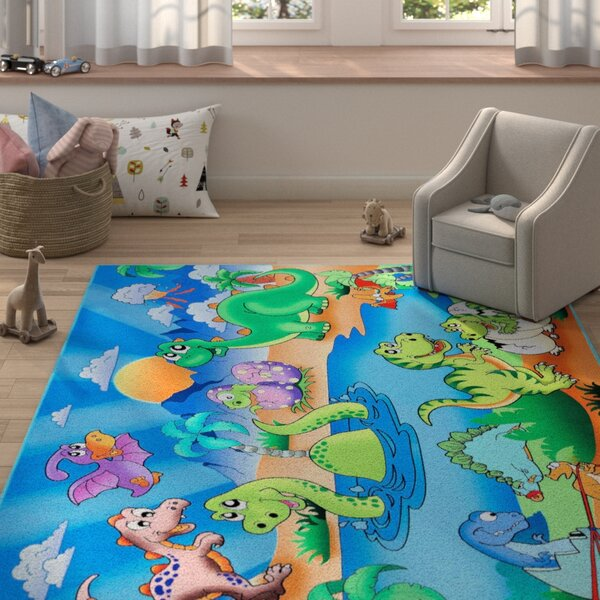 Freetown Blue/Green Area Rug by Zoomie Kids
