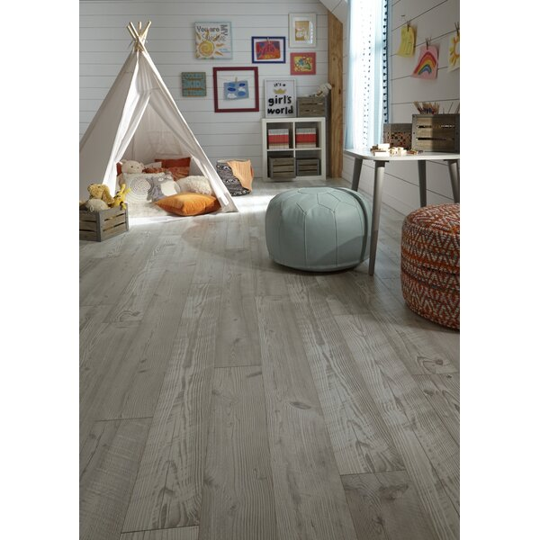 Restoration 6'' x 51'' x 12mm Seaview Pine Laminate Flooring in Sand by Mannington