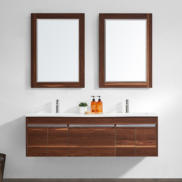 Adalynn 60 Double Bathroom Vanity with Mirror by Wrought Studio