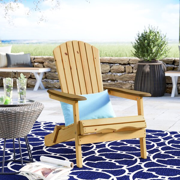 Lissette Folding Adirondack Chair by Beachcrest Home Beachcrest Home