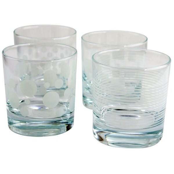 Kim 10.25 oz. Glass Cocktail Glass (Set of 4) by Ebern Designs