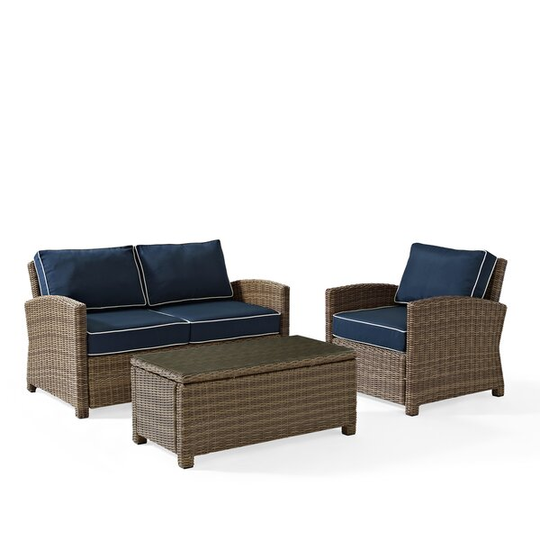 Middlesex 3 Piece Sofa Set with Cushions by Breakwater Bay