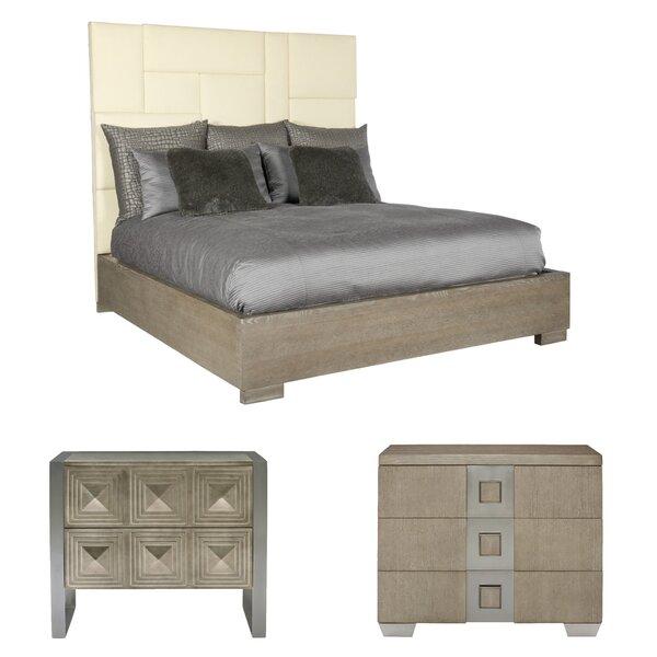 Mosaic Upholstered Standard Configurable Bedroom Set by Bernhardt