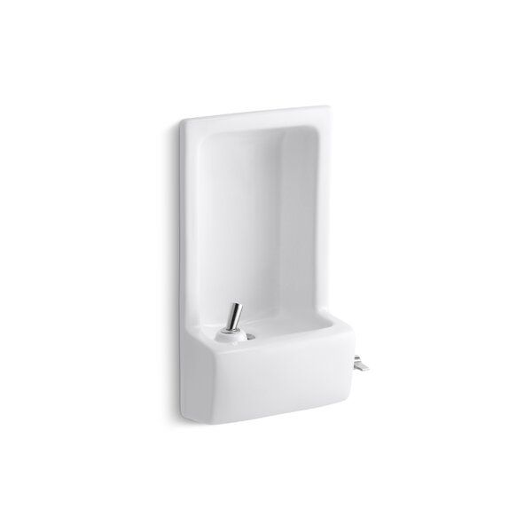 Glenbrook Semi-Recessed Drinking Fountain by Kohle