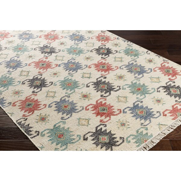 Essex Hand-Woven Blue/Red Area Rug by Loon Peak