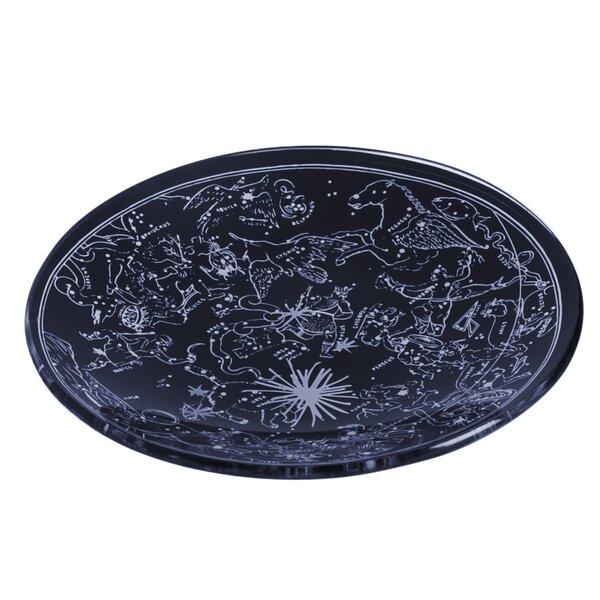 Alvord Round Glass Decorative Plate by Winston Porter