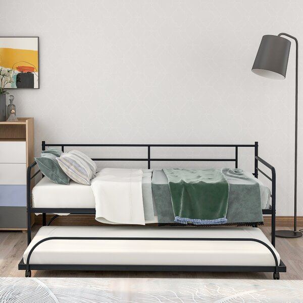 Arfa Twin Metal Daybed With Trundle By Red Barrel Studio
