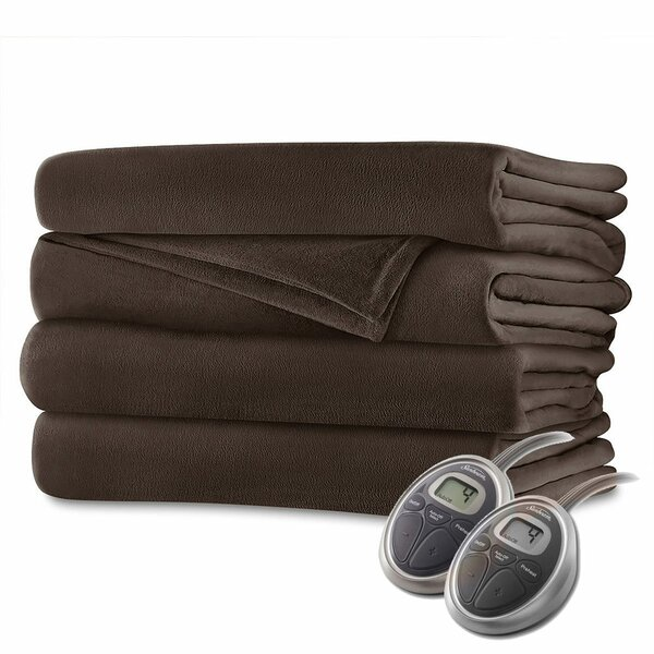 Velvet Plush Electric Heated Blanket by Bell + Howell