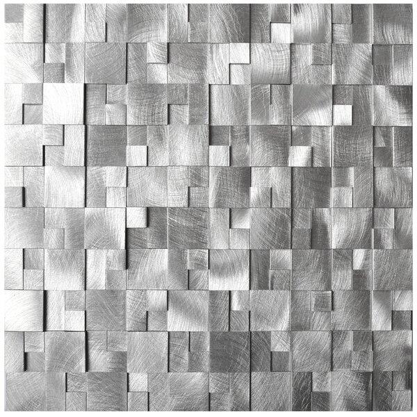 Raised Cobblestone Pattern 11.8 x 11.8 Aluminum Mosaic Tile (Set of 3) by Eden Mosaic Tile