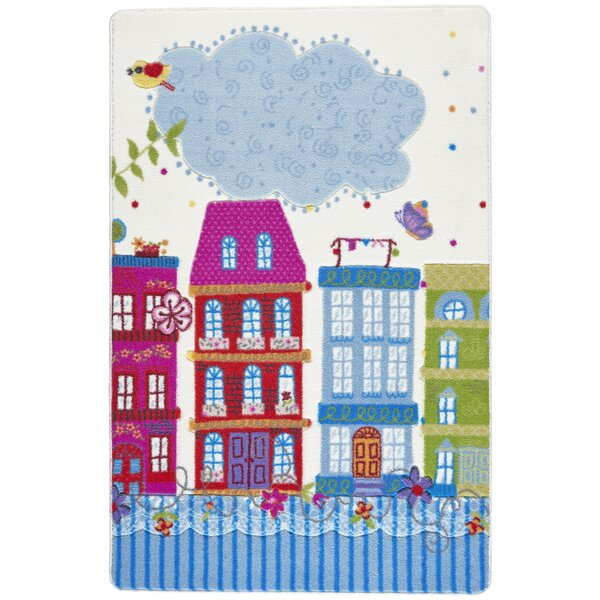 Silver Sweet Home Blue/Pink Area Rug by Harriet Bee