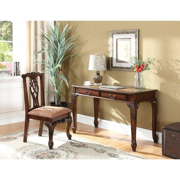 Filippo Wooden Carved Desk by Astoria Grand