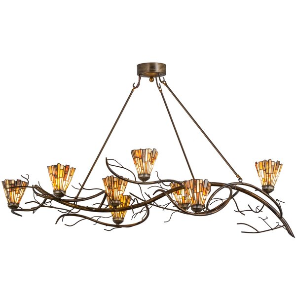 Curiel 8 - Light Unique Tiered Chandelier by Loon Peak Loon Peak