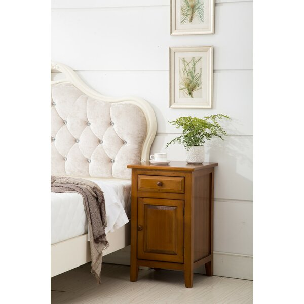 Barba 1 Drawer Nightstand by Charlton Home