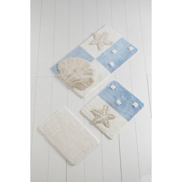 Zavala Starfish Rectangle Non-Slip piece Bath Rug Set