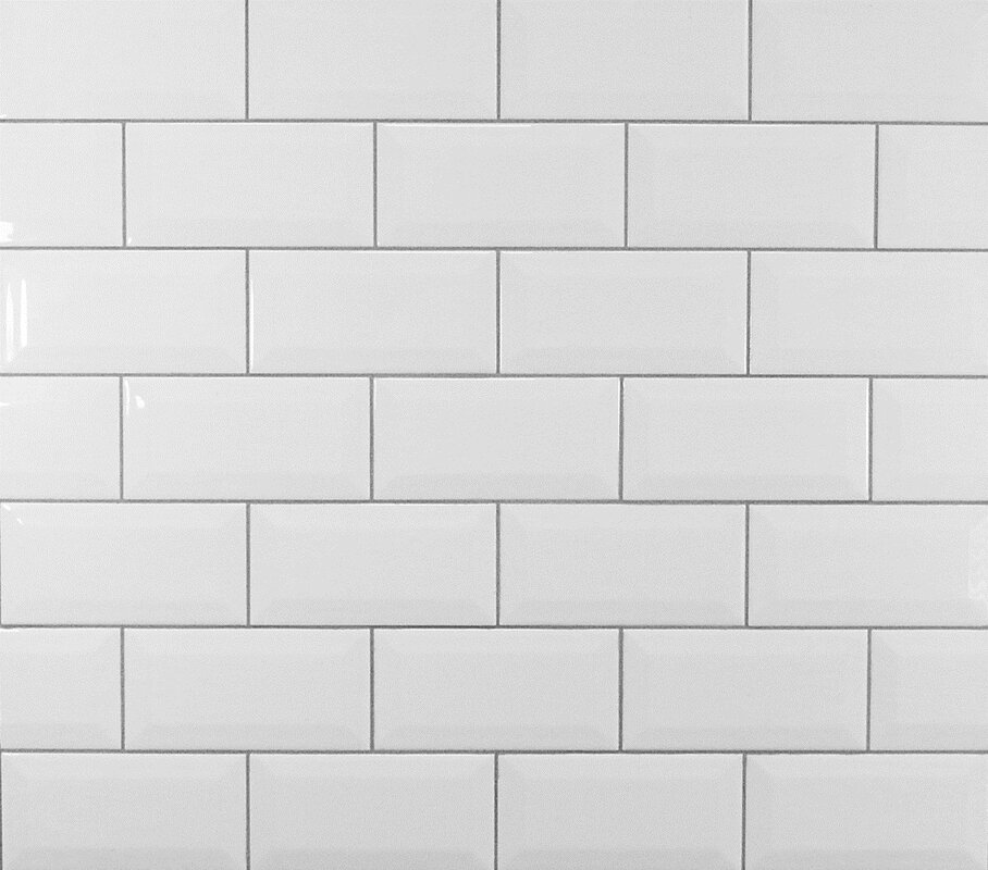 Mulia Tile Clic 3 X 6 Beveled Ceramic Subway In White