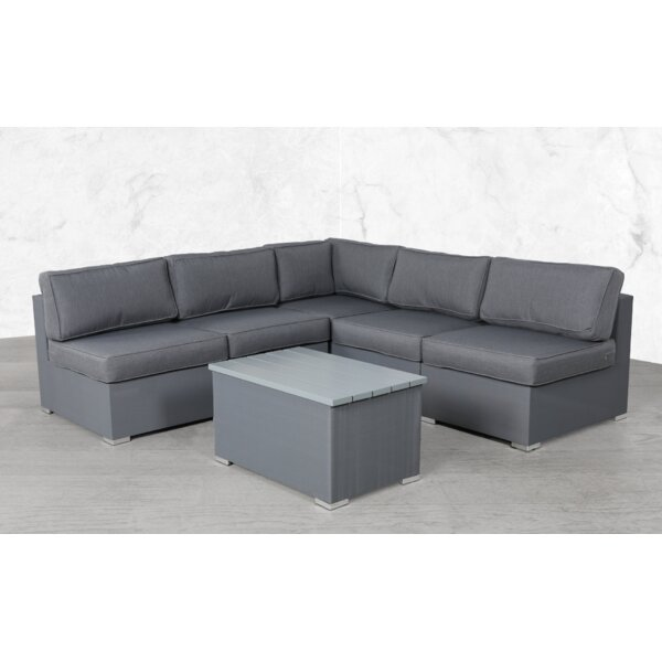 Clavier Modular 6 Piece Sectional Seating Group with Cushions by Orren Ellis Orren Ellis