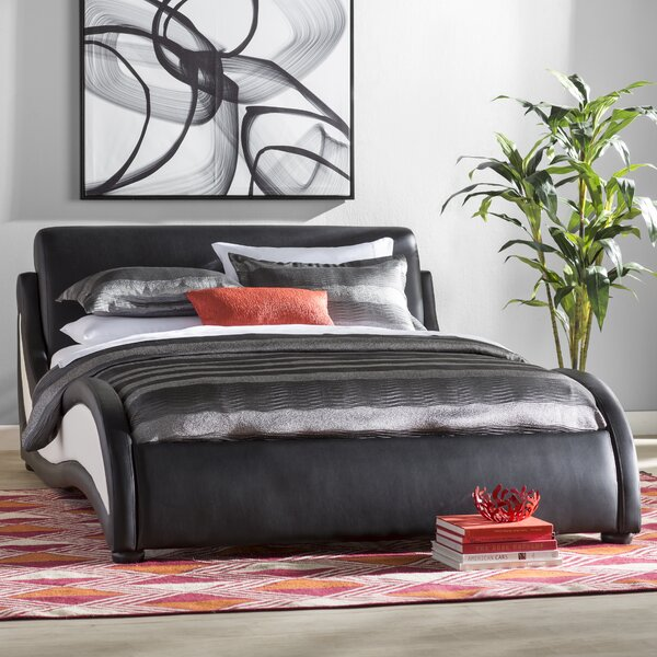 Alma Upholstered Platform Bed by Wade Logan