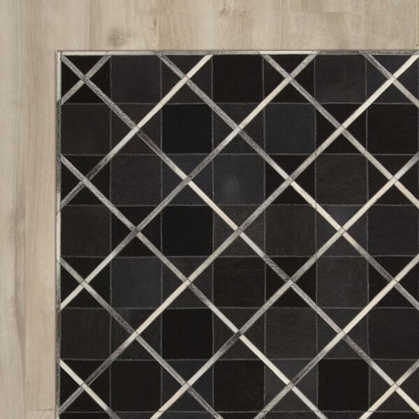 May Handmade Coal Area Rug by House of Hampton