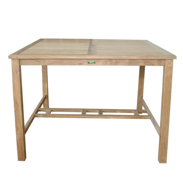 Bourassa Solid Wood Bar Table by Freeport Park Freeport Park