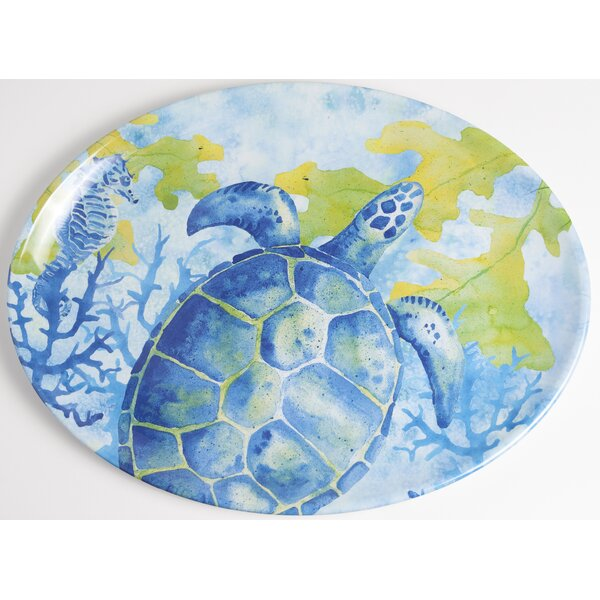 Yacht and Home Sea Turtle Melamine Platter by Galleyware Company