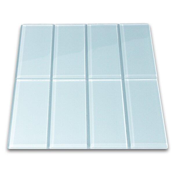 Hydrogen 3 x 6 Glass Mosaic Tile in Vapor by CNK Tile