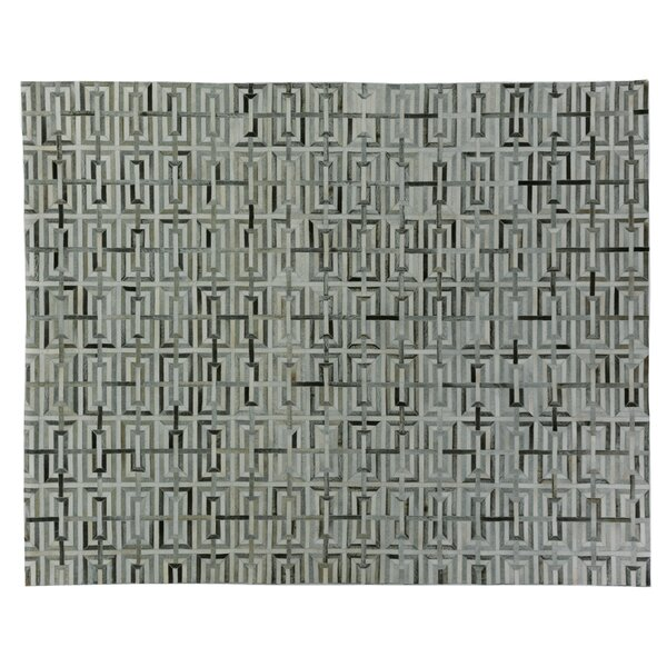 Natural Hide Hand Woven Cowhide Beige/Black Area Rug by Exquisite Rugs