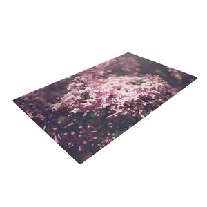 Jillian Audrey Lilacs Floral Pink Area Rug