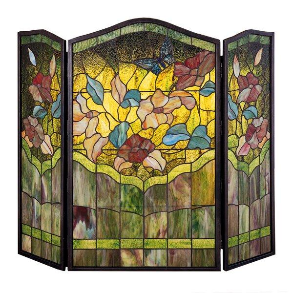 Butterfly 3 Panel Brass Fireplace Screen By Meyda Tiffany