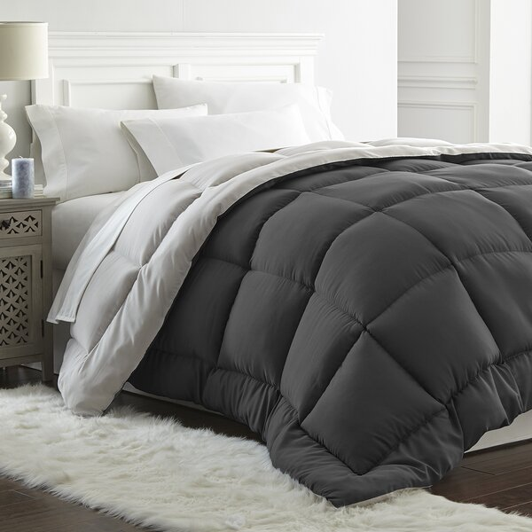 Hallock All Seasons Down Alternative Reversible Comforter by Ebern Designs
