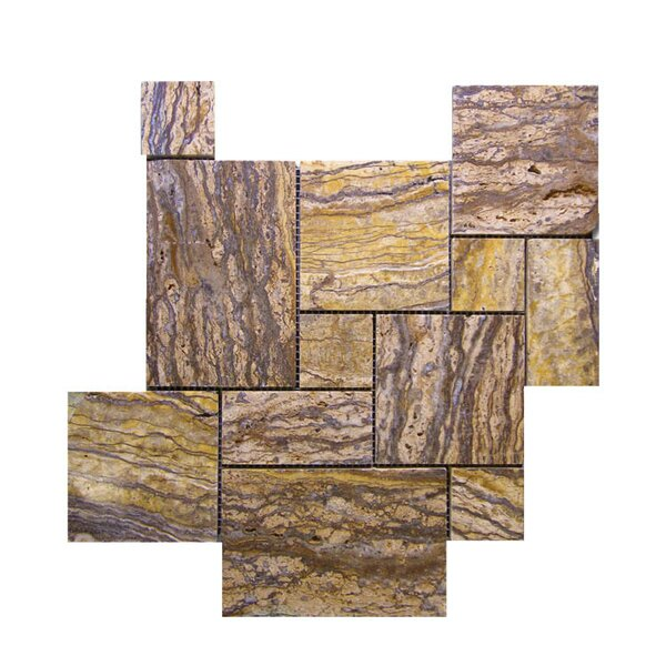 Random Sized Natural Stone Mosaic Tile in Alpine by QDI Surfaces