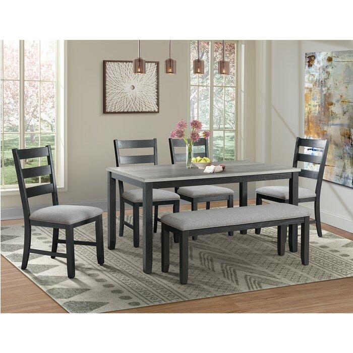 Incredible Mavis 6 Piece Solid Wood Dining Set Creativecarmelina Interior Chair Design Creativecarmelinacom