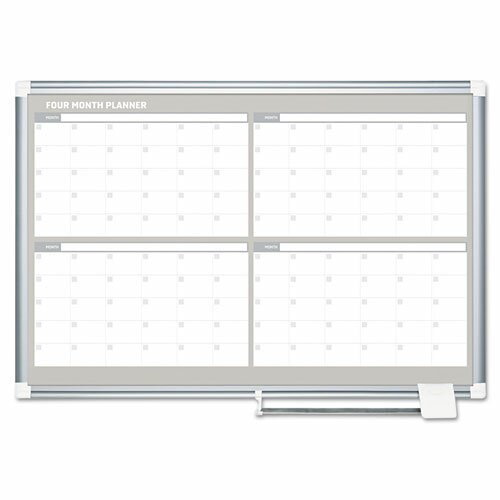 4 Month Calendar Wall Mounted Magnetic Whiteboard by Mastervision