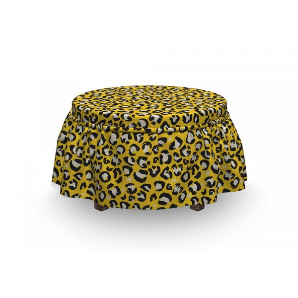 Wild Cat Camouflage Ottoman Slipcover (Set Of 2) By East Urban Home