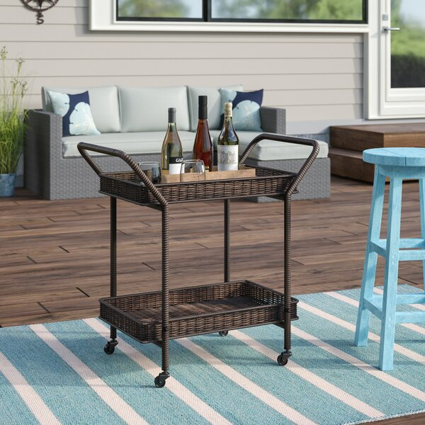 Petherton Bar Serving Cart by Beachcrest Home Beachcrest Home