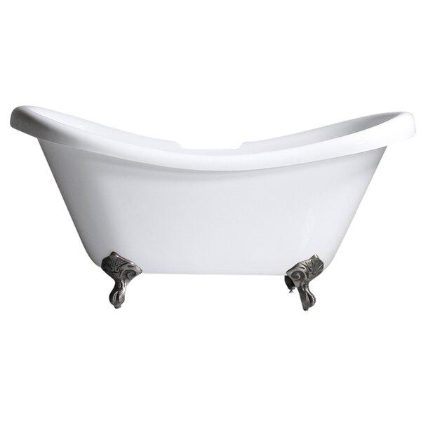 Hotel Acrylic 73 x 32 Freestanding Soaking Bathtub by Baths of Distinction