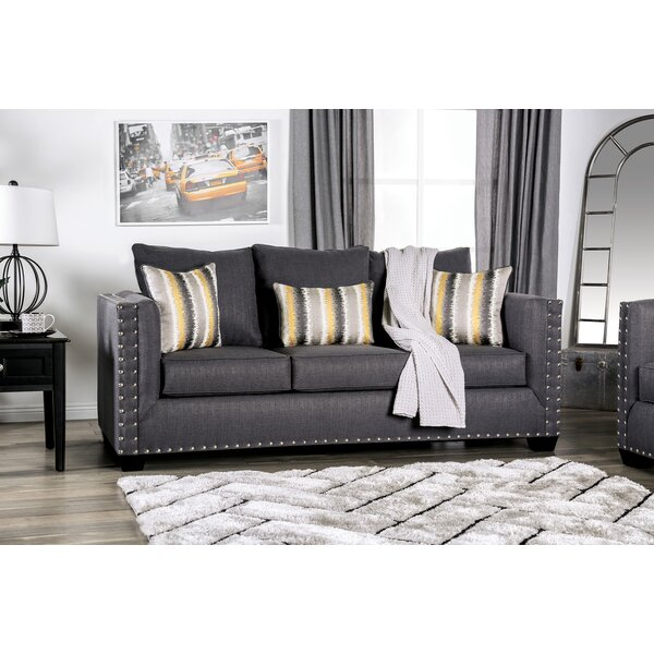 Latest Style Jeremias Nailhead Sofa by Everly Quinn by Everly Quinn