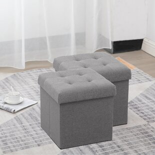 Purchase Marcal Foldable Tufted Storage Ottoman (Set of 2) ByWinston Porter